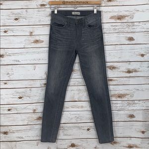 Madewell Gray High Rise Skinny Jeans Size 26